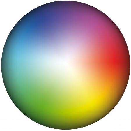 Depiction of a color wheel, inclusively gradation of brightness  photo