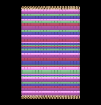 rag: Illustration of a Rag Rug  Isolated vector on black background  Illustration