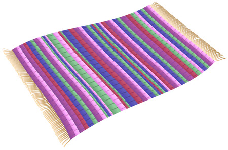 Illustration of a Magic Rag Rug flying carpet Isolated vector on white background Vector Illustration