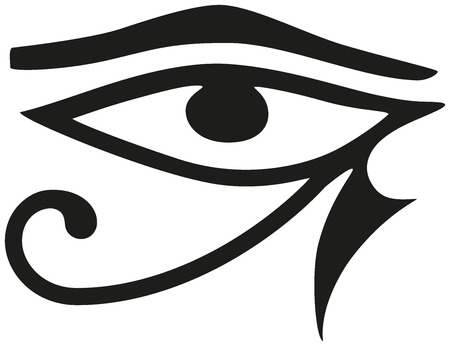black eyes: Eye of Horus