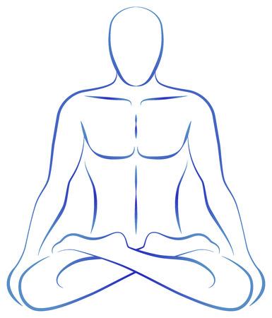 Illustration einer Person zu meditieren in Yoga-Position
