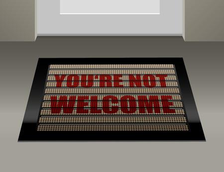 unlawful: Felpudo que dice, que usted no es bienvenido