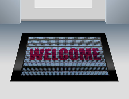 Doormat that says, that you are welcome  Vector