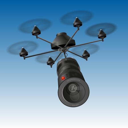 při pohledu na fotoaparát: Drone nebo bezpilotní UAV anténa vozidla s pozoruje kamerou