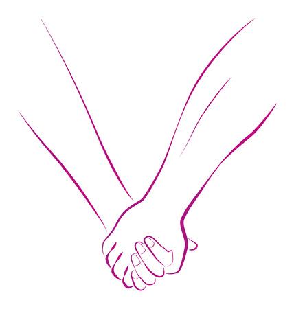 Prinzipdarstellung einer weiblichen und einer männlichen Person, die Hände Standard-Bild - 27307660