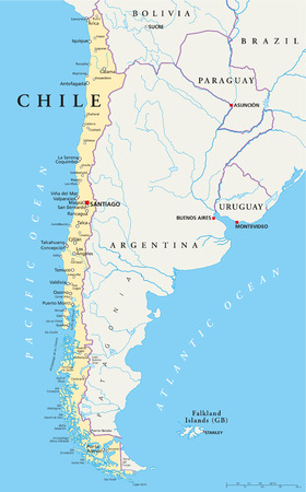 Chile Political Map Vector