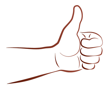 and acclaim: Illustration of a hand gesture that says  Thumbs Up