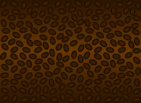 coffee beans background: Coffee beans background, brown gradient - seamless wallpaper can be created  Illustration