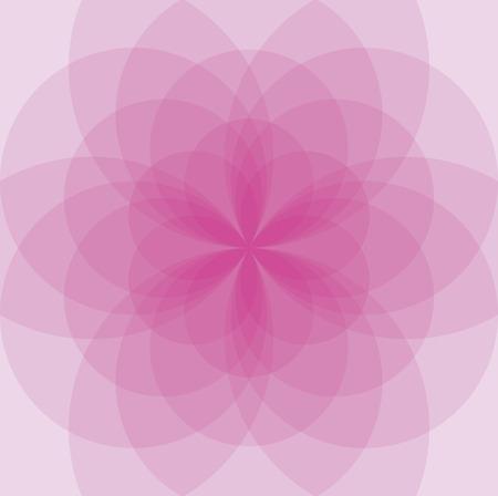 생명의 꽃에서 개발 된 원형 배경 일러스트