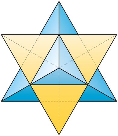 estrella de la vida: Merkabah - Estrella Tetraedro Vectores