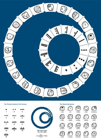Tzolkin Maya Calendar - Tzolkin Vector