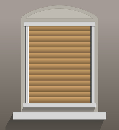 louvered: Window Shutters that are let down