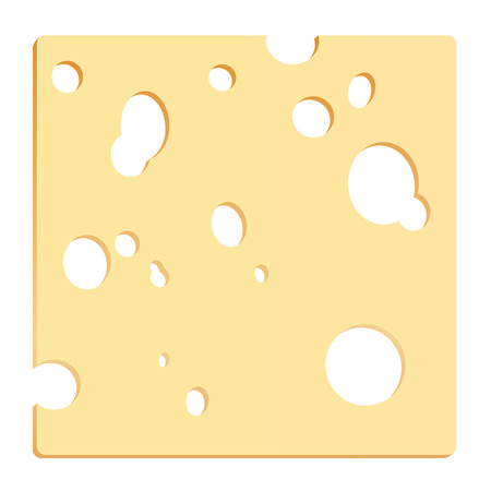 holes: Cheese slice with holes in shape of a square