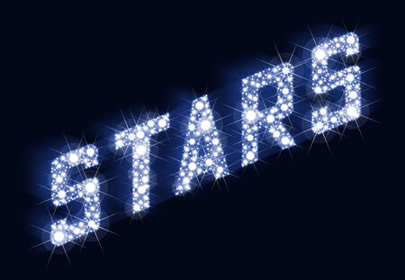 stardom: STARS Twinkling Lettering Made Of Stars  A lot of stars result in the lettering STARS