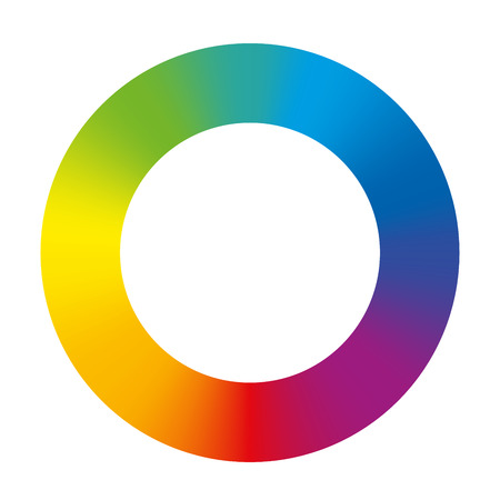 de colores: Anillo de color arco iris gradiente ilustración vectorial aislados en fondo blanco