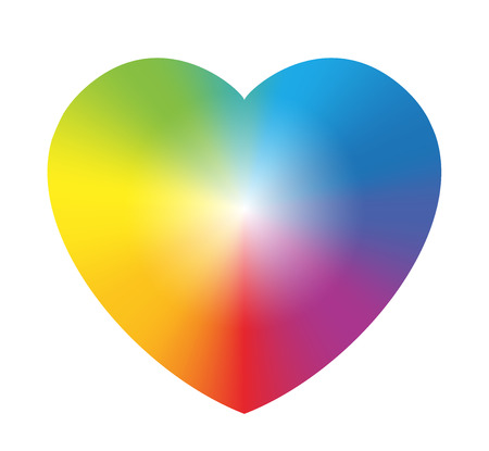 Rainbow color gradient heart  Isolated vector illustration on white background  Vector