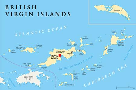 British Virgin Islands Map Stock Photos Royalty Free British Virgin
