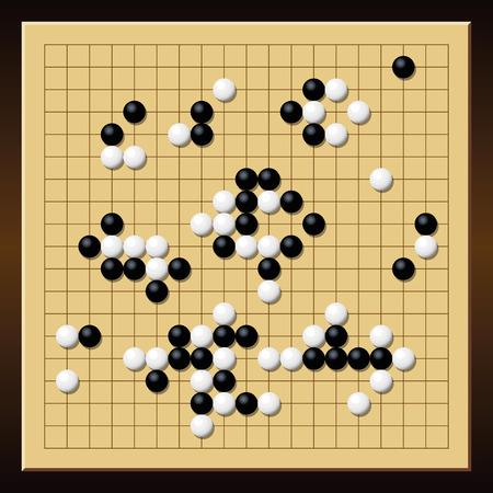 Ilustracion Del Vector Chino Tradicional Japones Estrategia De
