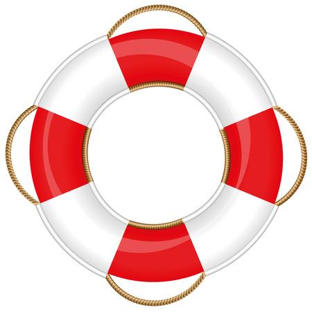 Bouée de sauvetage isolé illustration sur fond blanc. Banque d'images - 41490970