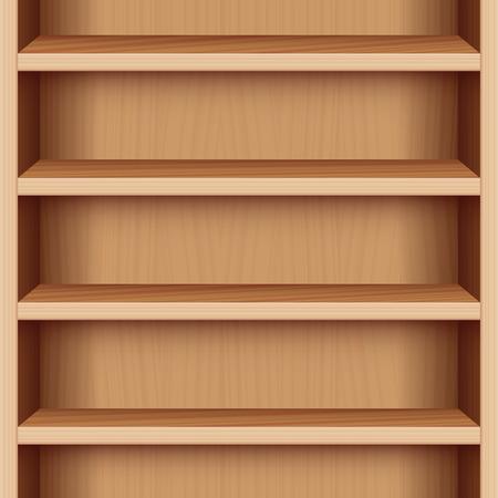 endlos: Buchen Fall mit Holzmaserung - kann endlos nach oben und unten erweitert werden. Vektor-Illustration. Illustration