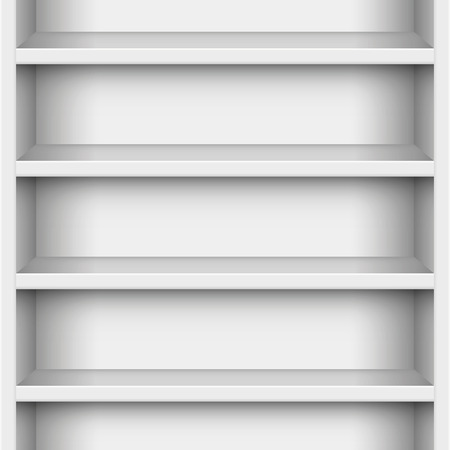 extensible: Book case - seamless expandable in all directions. Vector illustration.