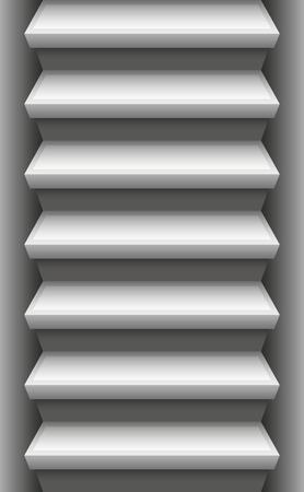 Pierre escalier - Endlessly vers le haut et vers le bas consommables. Vector illustration. Banque d'images - 43898375