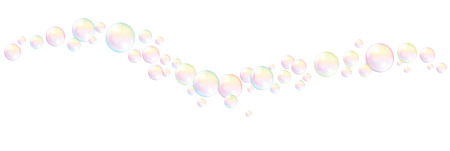 fluency: Blow soap bubbles wave pattern - isolated vector illustration on white background.