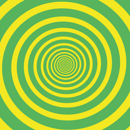 spiral vector: Green yellow hypnotizing spiral. Vector illustration.