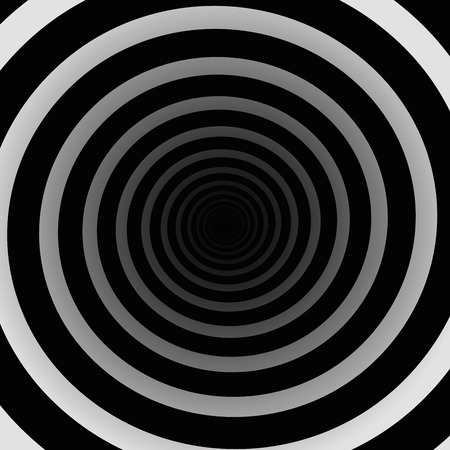 spiral vector: Spiral tunnel black and white, three-dimensional. Vector illustration.