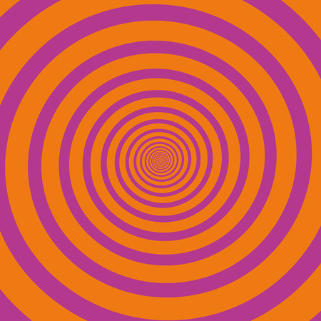 hypnotizing: Pink orange hypnotizing spiral. Vector illustration. Illustration