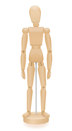 wooden doll: Lay figure - three-dimensional mannequin with realistic wood grain