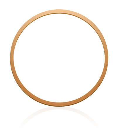 Gymnastic hoop with wood texture. Illustration over white background. Illusztráció