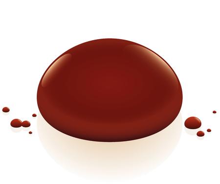 gota: La gota de sangre. Ilustración aislada sobre fondo blanco. Vectores