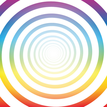 hypnotizing: Spiral tunnel, rainbow colors, white shiny center, three-dimensional.