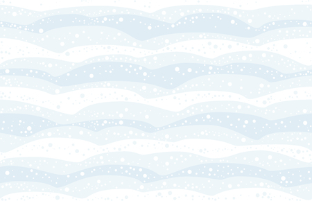 hills: Snowfall - seamless background of the snow covered heaps can be created in all directions. Vector illustration.