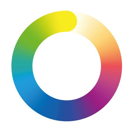 preloader: Preloader - rainbow colored gradient ring. Isolated illustration on white background.