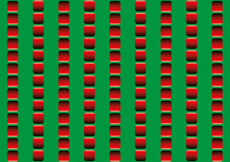 run down: Optical illusion, illusory motion - the rows of red squares seem to move up and down, and to run counter - seamless wallpaper pattern in all directions can be created.