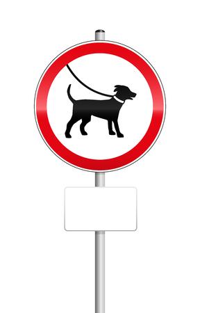 Les chiens en signe laisse avec le lieu vide pour être étiquetés.