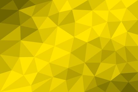 variation: Low poly background yellow formed with triangles of different size. Variation of gradated Yellow fields. Illustration.