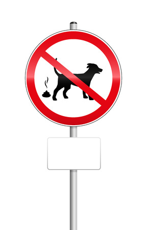 up code: No dog pooping sign with blank place to be labeled.