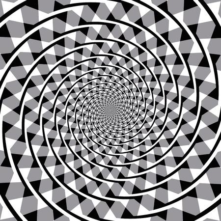 Fraser illusion d'optique spirale. Aussi connu sous le faux spirale ou l'illusion du cordon torsadé. Les segments d'arc qui se chevauchent semblent former une spirale, mais les arcs sont une série de cercles concentriques. Banque d'images - 63995101