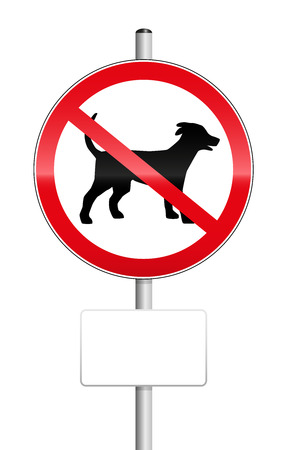 No dogs traffic sign with blank place to be labeled.