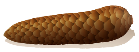 defecation: Constipation - symbolically depicted with a brown spruce cone.