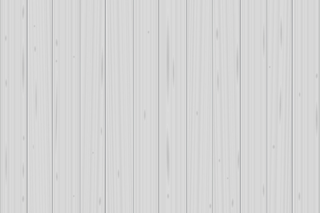 White wood planks background - vector illustration. Illustration