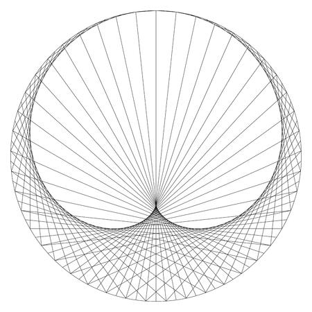 cardioid: Cardioide - sinusoidal espiral - curva plana matemática. Vectores