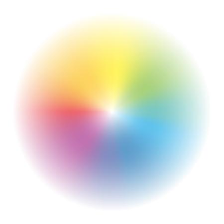 Aura - circular rainbow gradient background - vector illustration.