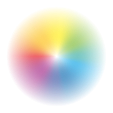 Aura - circular rainbow gradient background - vector illustration.