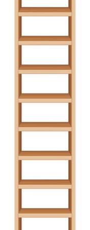 endlos: Leiter tat Kann endlos nach oben und nach unten verlängert. Vektor-Illustration.