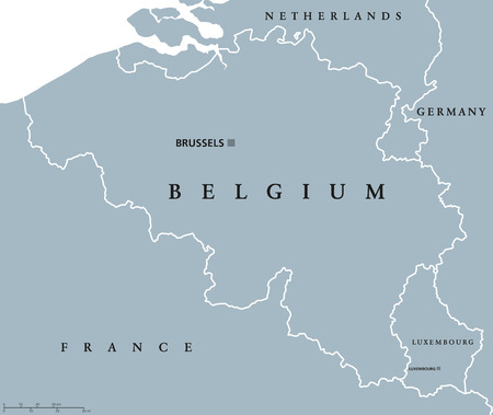 Belgium Political Map With Capital Brussels National Borders