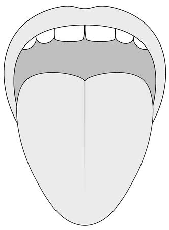 Stuck out tongue - overzicht illustratie op een witte achtergrond.